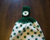 Double Thick Hanging Shamrock Dish Towel