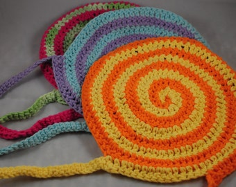 Swirly Crochet Bib