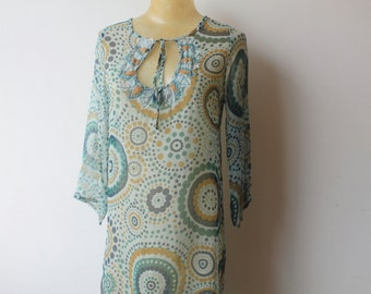 Festival Clothing,Kaftan Dress, Boho Hippie Dress, Vintage