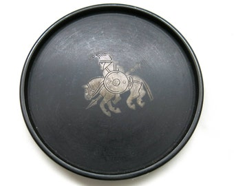 Swedish Isolie and Silver Tray - Perstorp 1950s Design