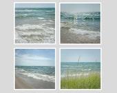 Beach Print Set,  Nautical Decor, Beach Photography Set, Wall Gallery, Wave Prints, Blue Teal Aqua Nautical Ocean