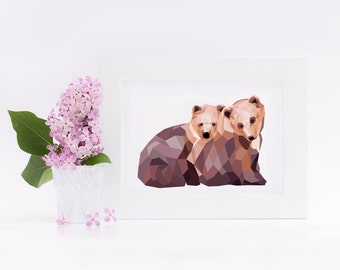 "Postcard, small bear"""