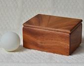 Small Gift Box, Mahogany with Book Matched Mahogany Veneer Top