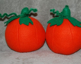Set of 2 Felt Pumpkins