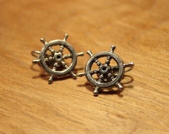 Vintage Captain's Wheel Clip On Earrings, item #104