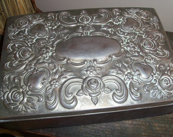 Vintage 1991 Godinger Silver Plated Large Jewelry Box