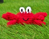 Red Crab Crocheted Stuffed Animal Children's Toy