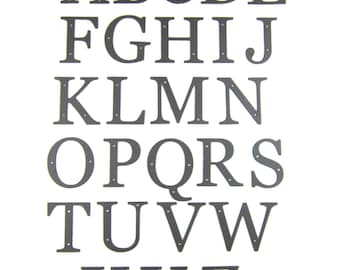 Standard smooth wrought iron alphabet letters
