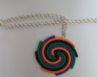 Halloween Spiral Necklace