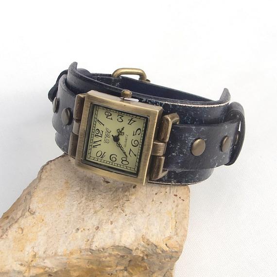 montre cuir montre femme montre manchette en cuir montre. Black Bedroom Furniture Sets. Home Design Ideas