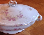Antique Rosenthal Continental Carmen -  Handpainted Covered Serving Bowl
