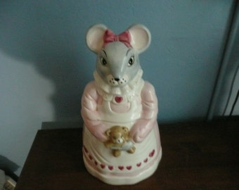 Mouse Cookie Jar House of Lloyd 1990