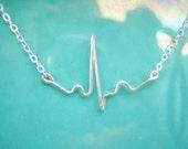 EKG Necklace, gift for nurse, ecg necklace, heartbeat necklace, normal sinus rhythm, nurse jewelry, gift for doctor, nurse necklace, NSR