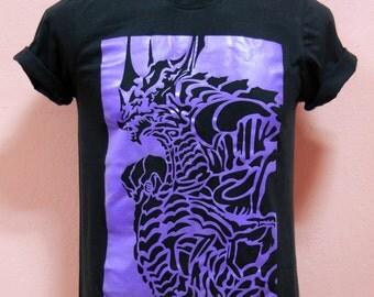 FFXIV a realm reborn  BAHAMUT BOSS design   - Unisex Adult T-Shirt Black Tshirt