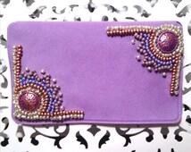 Aztec Birth Control Case - Birth Control - Pill Case - Pill Holder  - Beaded Case - Lavender Case - Colorful Case