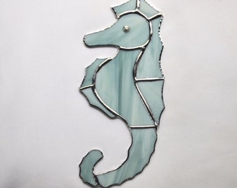 Stained Glass Sea Horse Suncatcher