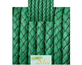 DL06132 - 0,40 meter x 6,00mm Braided Leather Cord