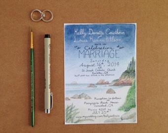 Custom Hand Made Wedding Invitation