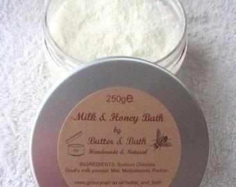 Coconut Bath Milk with Honey, Luxury Coconut Bath Soak, Coconut Goat's Milk Bath, Milk & Honey Spa Bath