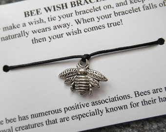 Bumblebee Wish Bracelet - Wish Bracelet - Bee Bracelet - Party Favor - Wishing Bracelet - Bumblebee Charm Bracelet - Thank You Gift