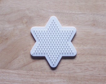 Perler Bead White Star Pegboard, Ironing Paper, Instructions, Craft Supply, Church Craft Supply, Kids Crafts