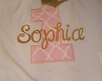 Birthday Number shirt you choose colors and number Personalize with your childs name
