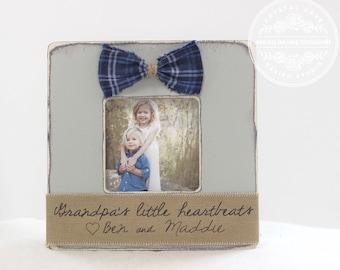 Grandpa Grandfather GIFT Personalized Picture Frame 'Grandpa's Little Heartbeats ' Gift for Grandpa Grandfather