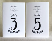 Wedding Table Number Books - Wedding Journal Table Number Books - Alternative Guest Books