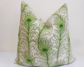 Indoor / Outdoor Pillow Cover - Lime Green Sunbrella Pillow - Lime Green indoor Outdoor Cushion -18 x 18, 20 x 20, 22 x 22, 24 x 24, 26 x 26