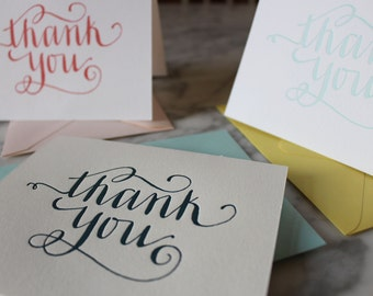 Thank You Letterpress Note Cards - Set of 20