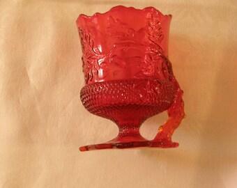 Ruby Red Acorn Leaf Spooner