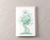Tree House Letterpress Greeting Card