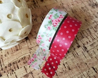 Mini Floral Washi Tape Set of 2