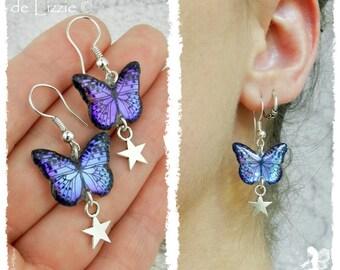 Iridescent Butterflies pending Earrings - Customizable