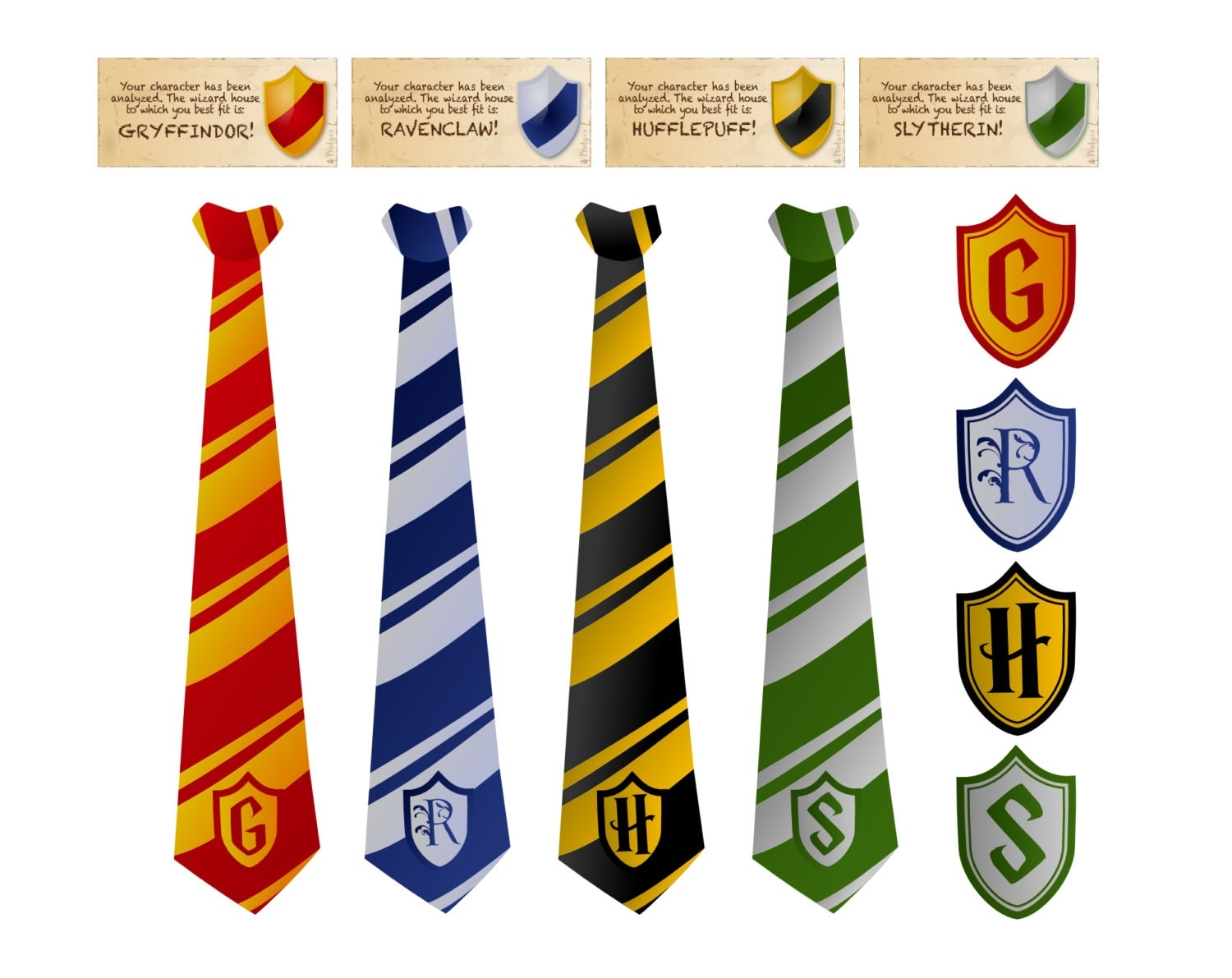This is a graphic of Luscious Harry Potter Tie Printable