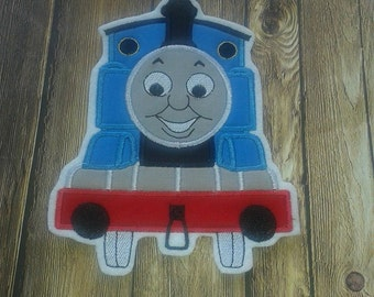 Thomas the Train Embroidered Applique ~ No Sew Patch ~ Iron On