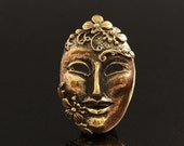 Mask Bronze Pendant Findings 2510 Theater Venice Masks
