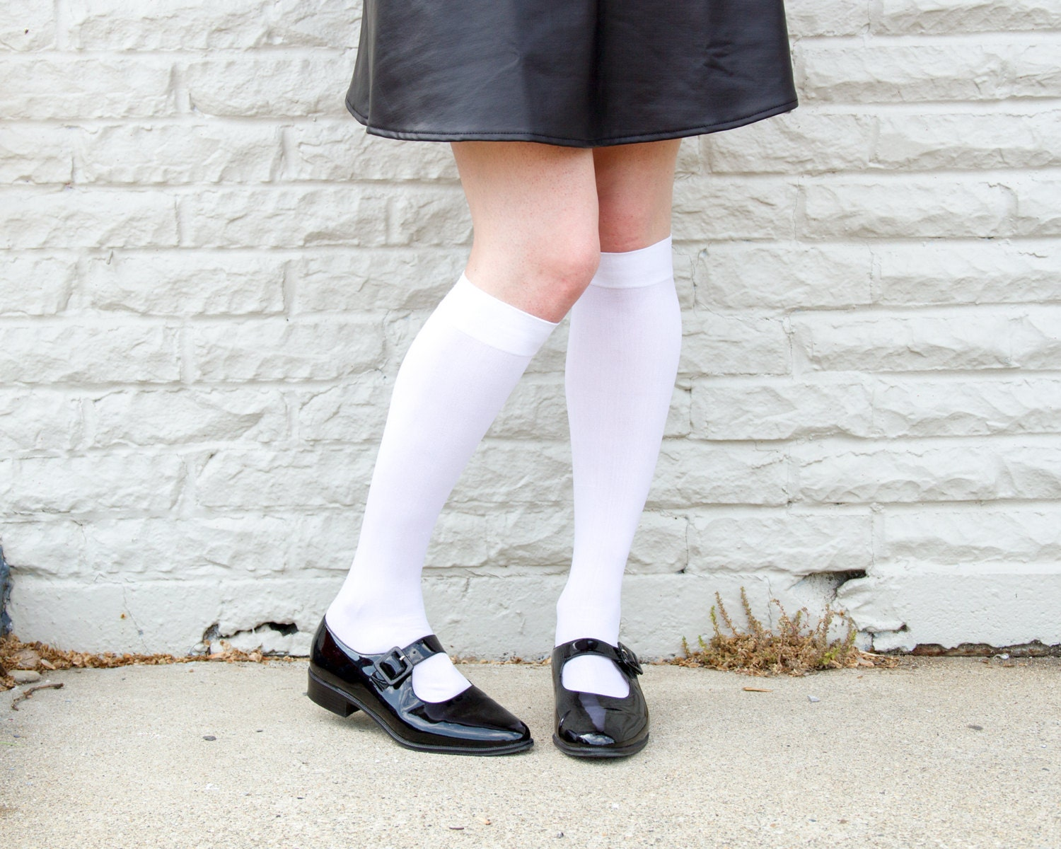 Vintage Black Leather Mary Janes 7 5 Patent Leather Shoes