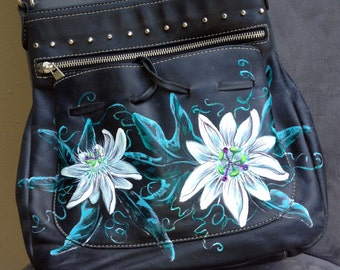 Carla Danelli Argentinian Leather Hand-painted Bejeweled Handbag
