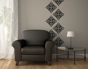 Wall Stickers - Vinyl Wallpaper Decal - Vinyl Decals Set of 15 - Vinyl Wall Paper - Vinyl Damask 0046
