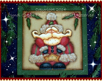 CC180 - Joy Santa Painting E Pattern by Cyndi Combs