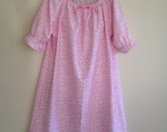 Flannel Nightgown - Knee Length