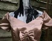 Vintage Bridesmaid Dress Vintage Prom Dress Formal Dress Formal Gown Jordan DressVintage Satin Dress Satin Gown