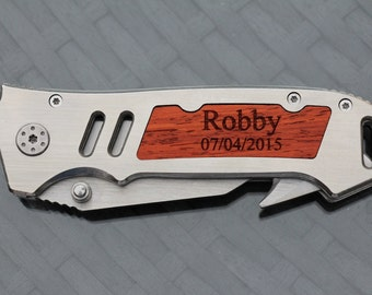 10 Gifts for Groomsmen, Gift for Usher, Gift for Best Man, Father of the Bride/Groom, Gift for Grandpa, Personalized Engraved Knives