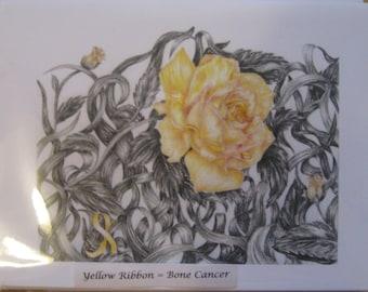 Yellow Flower Cards (Bone Cancer)