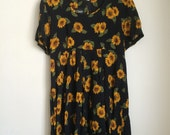 90's babydoll sunflower dress