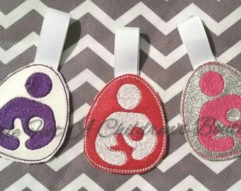 Breastfeeding keychain