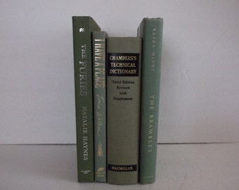 Shades of Green Decorative Books Decoration - Shades of  Green- Home Decoration -4  books Decorative Books