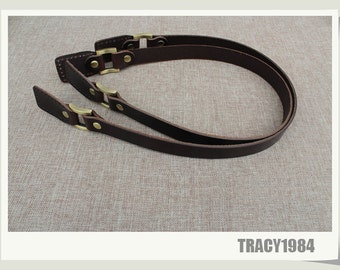 """24"""" Brown Color Real Leather Purse Straps"""