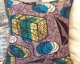 African Print Graphic Cushion Cover
